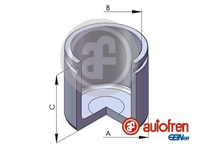 Piston etrier de frein AUTOFREN SEINSA D02580 (X1)
