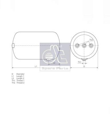 Roulement / moyeu / roue DT Spare Parts 4.65535 (X1)