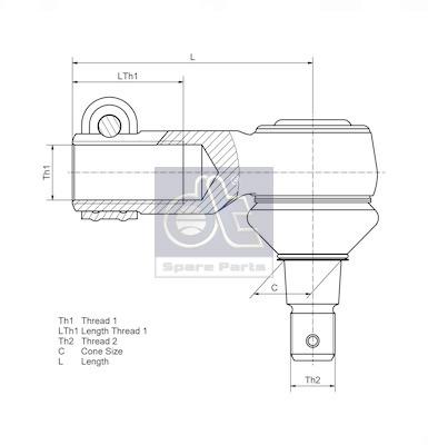 elements d'amortisseur DT Spare Parts 4.60724 (X1)