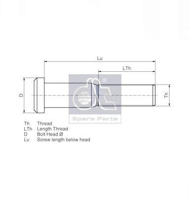Ecrou / Boulon de roue DT Spare Parts 4.40174 (X1)
