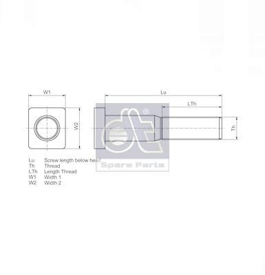 Ecrou / Boulon de roue DT Spare Parts 1.17034 (X1)