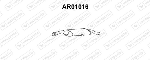 Silencieux arriere VENEPORTE AR01016 (X1)