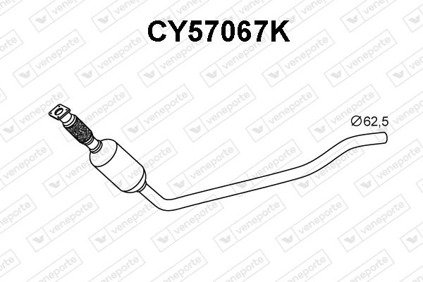 Catalyseur VENEPORTE CY57067K (X1)