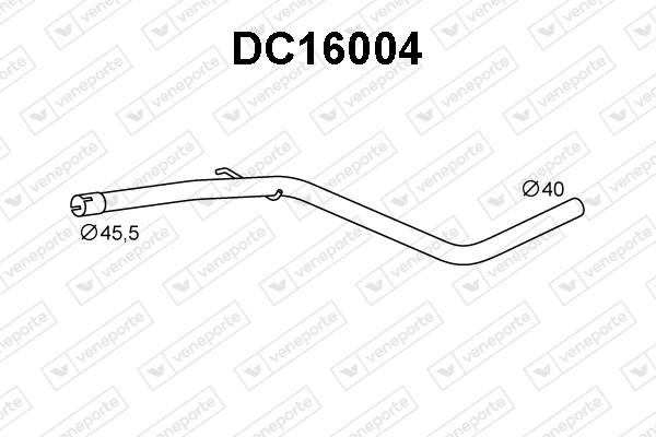 Tube d'echappement VENEPORTE DC16004 (X1)