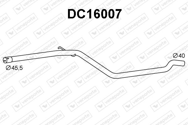 Tube d'echappement VENEPORTE DC16007 (X1)
