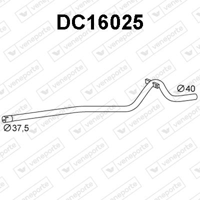 Tube d'echappement VENEPORTE DC16025 (X1)