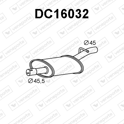 Silencieux avant VENEPORTE DC16032 (X1)