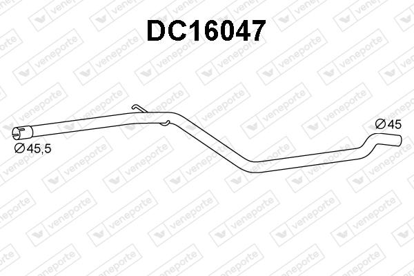 Tube d'echappement VENEPORTE DC16047 (X1)