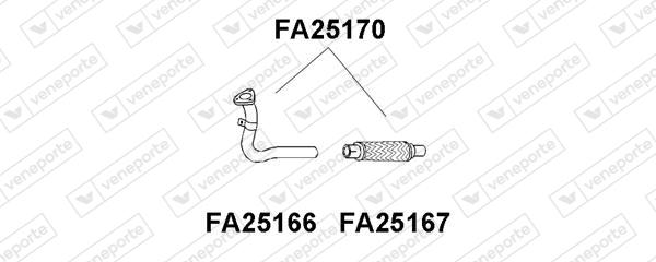Tube d'echappement VENEPORTE FA25170 (X1)