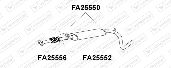 Silencieux avant VENEPORTE FA25550 (X1)