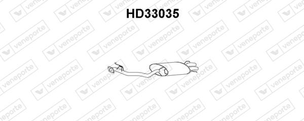 Silencieux arriere VENEPORTE HD33035 (X1)
