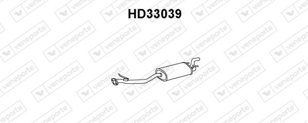 Silencieux arriere VENEPORTE HD33039 (X1)