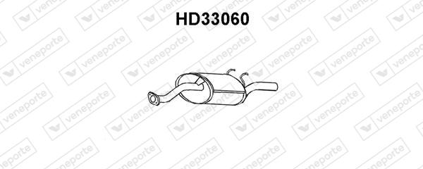 Silencieux arriere VENEPORTE HD33060 (X1)