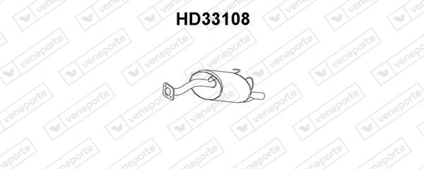 Silencieux arriere VENEPORTE HD33108 (X1)