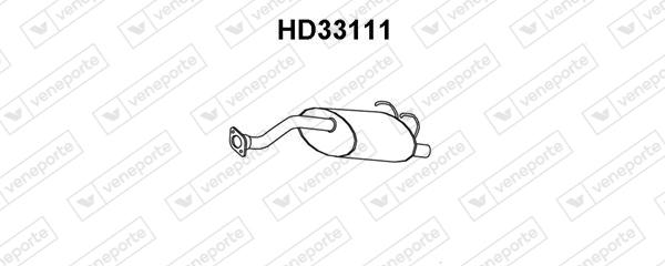 Silencieux arriere VENEPORTE HD33111 (X1)