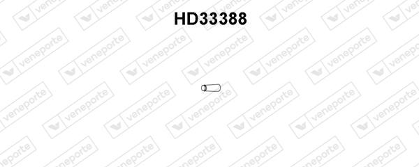 Tube d'echappement VENEPORTE HD33388 (X1)