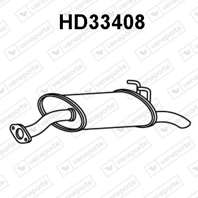 Silencieux arriere VENEPORTE HD33408 (X1)