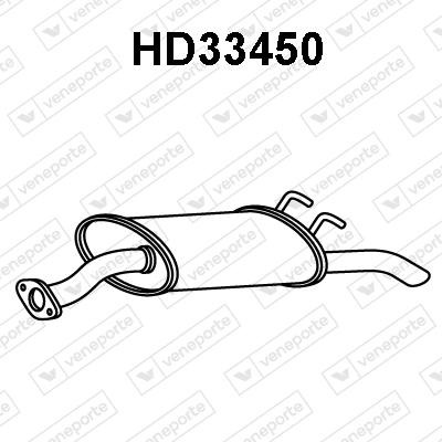 Silencieux arriere VENEPORTE HD33450 (X1)