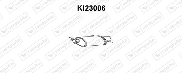 Silencieux arriere VENEPORTE KI23006 (X1)