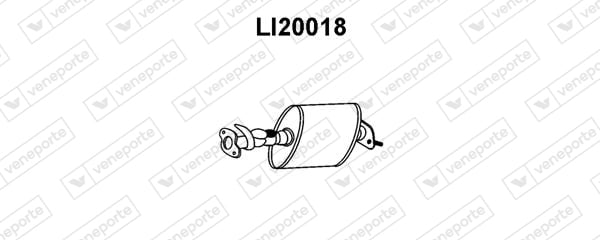 Silencieux avant VENEPORTE LI20018 (X1)