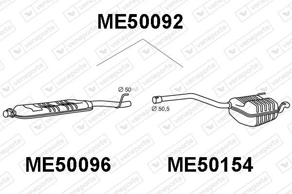 Silencieux VENEPORTE ME50092 (X1)