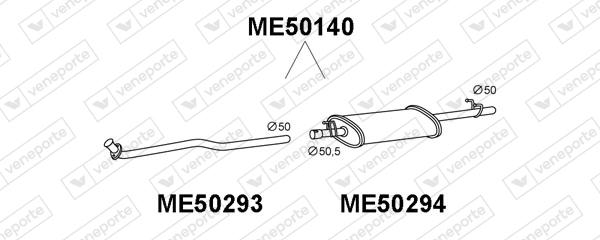 Silencieux VENEPORTE ME50140 (X1)