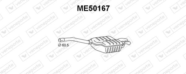 Silencieux VENEPORTE ME50167 (X1)