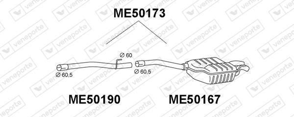 Silencieux VENEPORTE ME50173 (X1)