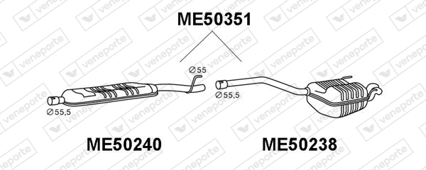 Silencieux VENEPORTE ME50238 (X1)