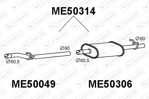 Silencieux VENEPORTE ME50314 (X1)