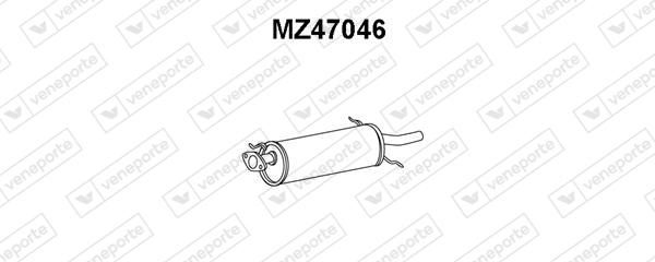 Silencieux arriere VENEPORTE MZ47046 (X1)