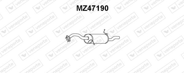 Silencieux arriere VENEPORTE MZ47190 (X1)