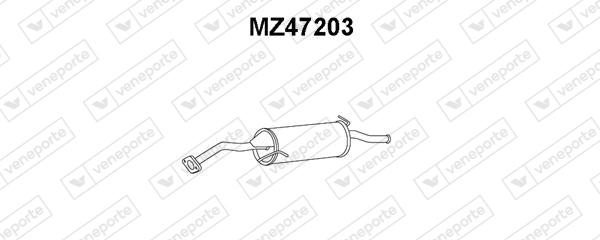 Silencieux arriere VENEPORTE MZ47203 (X1)