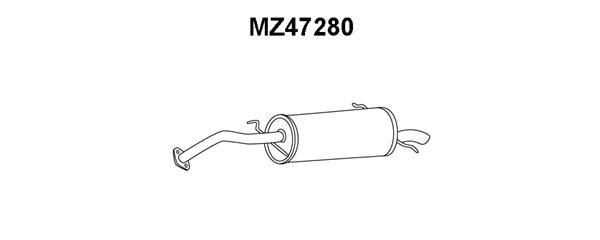Silencieux arriere VENEPORTE MZ47280 (X1)