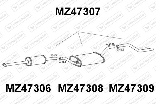 Silencieux arriere VENEPORTE MZ47307 (X1)