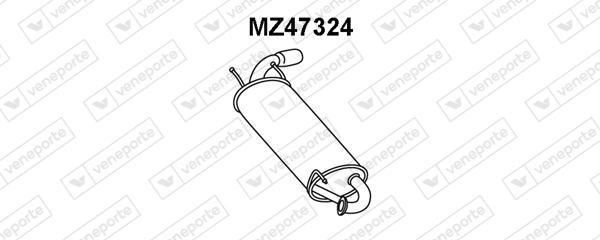 Silencieux arriere VENEPORTE MZ47324 (X1)