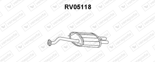 Silencieux arriere VENEPORTE RV05118 (X1)
