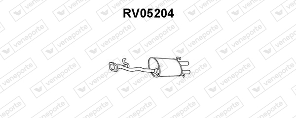 Silencieux arriere VENEPORTE RV05204 (X1)