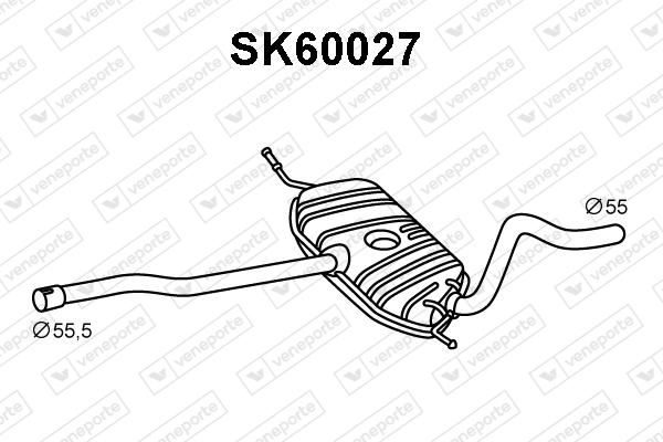 Silencieux avant VENEPORTE SK60027 (X1)