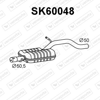 Silencieux avant VENEPORTE SK60048 (X1)