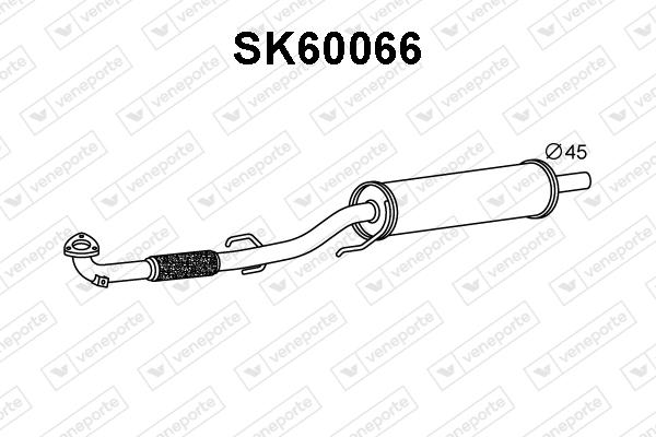 Silencieux avant VENEPORTE SK60066 (X1)
