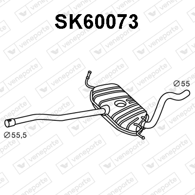 Silencieux avant VENEPORTE SK60073 (X1)