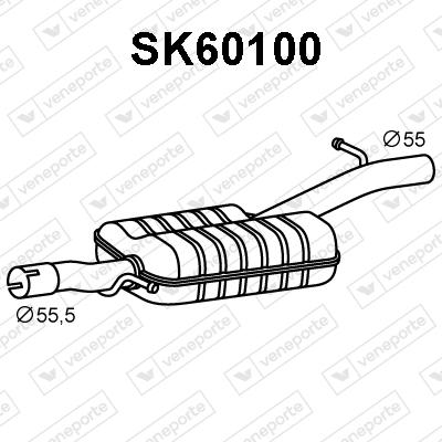 Silencieux avant VENEPORTE SK60100 (X1)