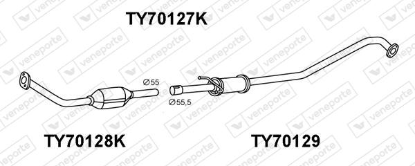 Catalyseur VENEPORTE TY70127K (X1)