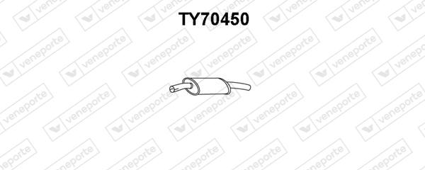 Silencieux avant VENEPORTE TY70450 (X1)