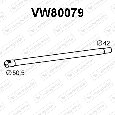 Tube d'echappement VENEPORTE VW80079 (X1)
