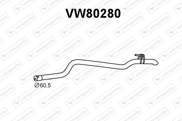 Tube d'echappement VENEPORTE VW80280 (X1)