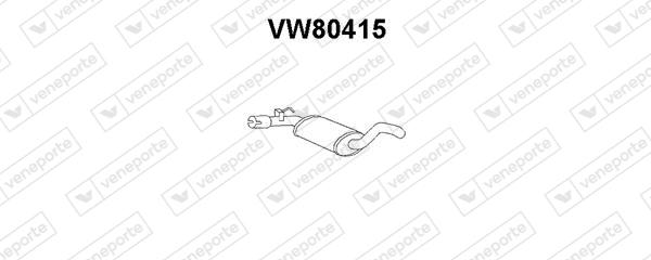Silencieux avant VENEPORTE VW80415 (X1)