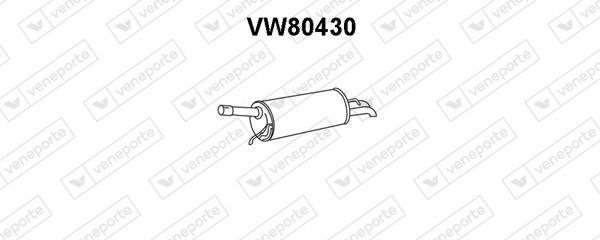 Silencieux arriere VENEPORTE VW80430 (X1)