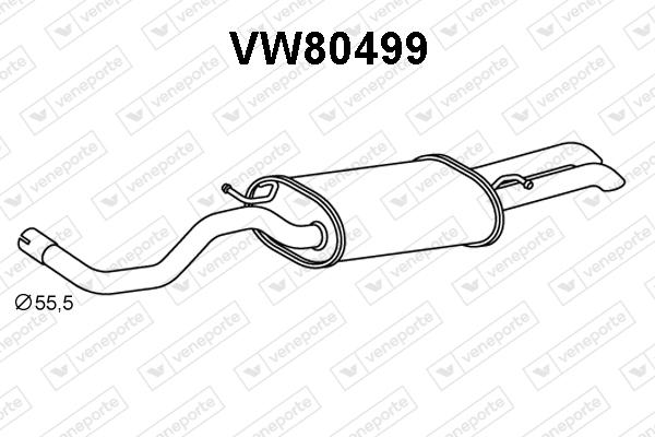 Silencieux arriere VENEPORTE VW80499 (X1)